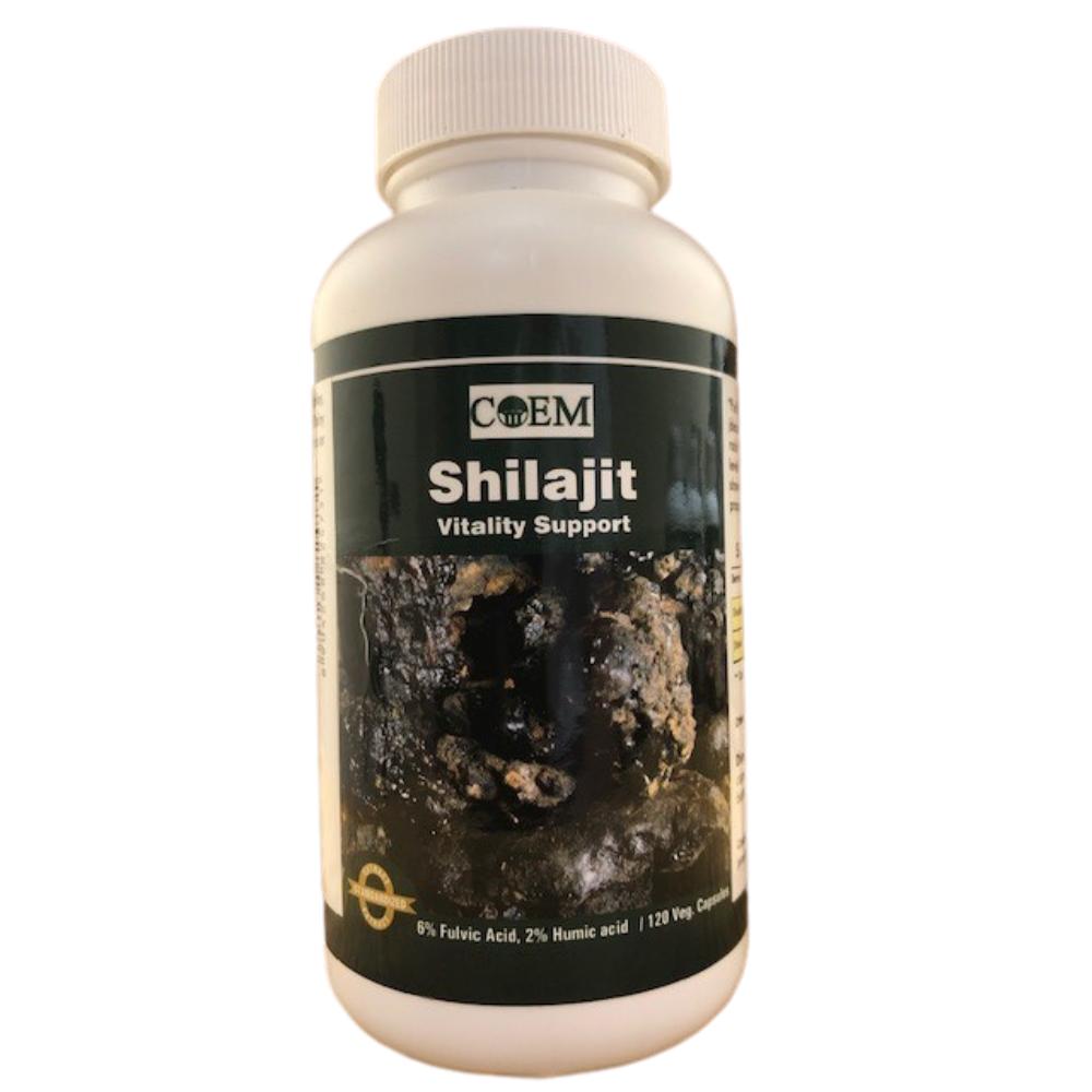SHILAJIT 120 CAPSULES 375 mg - 6% Fulvic Acid, 2 % Humic Acid. Standardized Extract