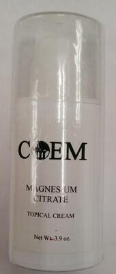 Magnesium Citrate Topical Cream 4 oz
