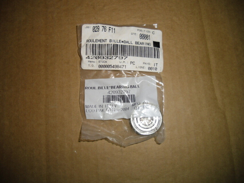 Sea Doo Crankcase rotory valve bearing C/O 420932797