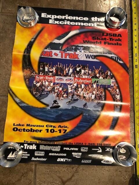 "Vintage 1999 Skat Trak ""Experience the excitement"" World Finals Poster"
