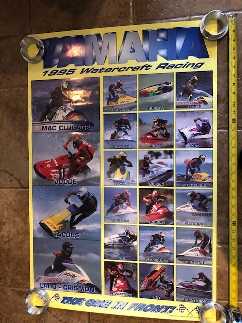 1995 Yamaha Watercraft Racing Team Poster (Some of The Greatest)
