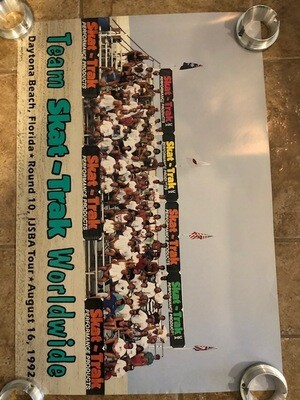 1992 Team Skat Trak Team Poster Rnd 10 IJSBA Tour