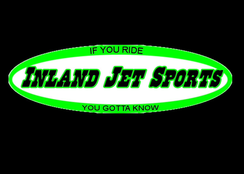 Inland Jet Sports dayglow green oval sticker 6inch