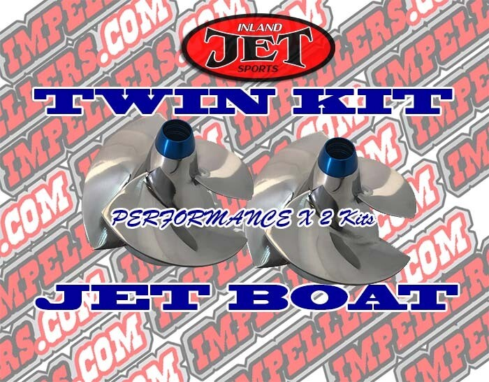 Twin Tune Performance 2 X Impellers Kit 2006 Sea Doo Speedster 200 Twin SCIC & Tower/Wake eng boat