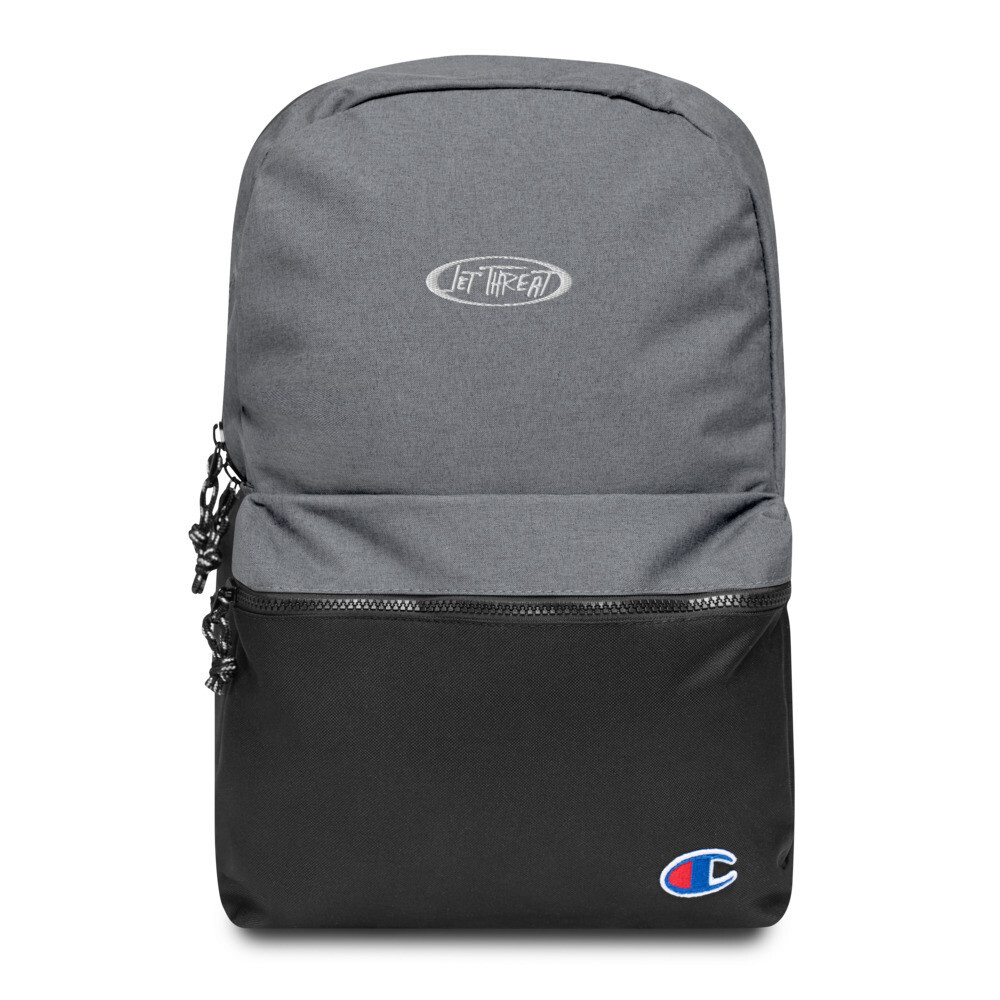 Jet Threat Embroidered Champion Backpack