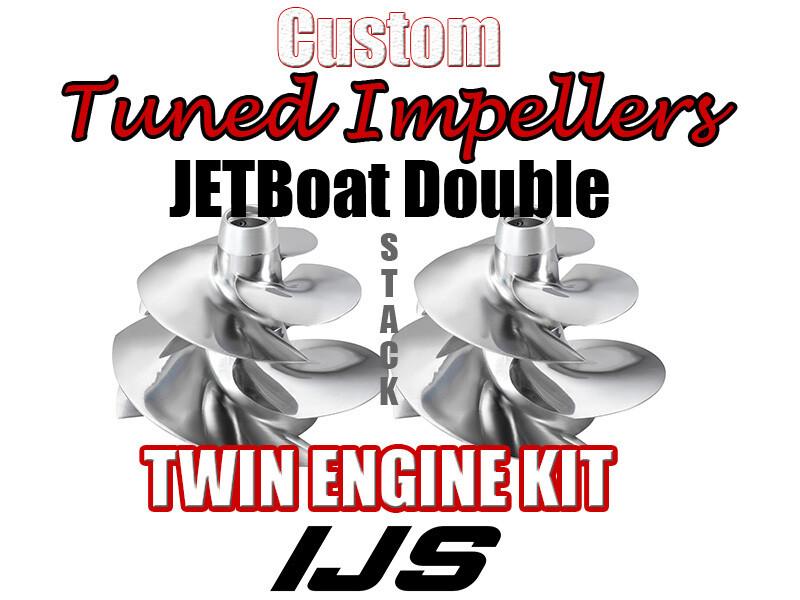 Twin Doublestack Performance 2x impeller kit Sea Doo Challenger 510/520 Speedster 510/520 WAKE 510/520
