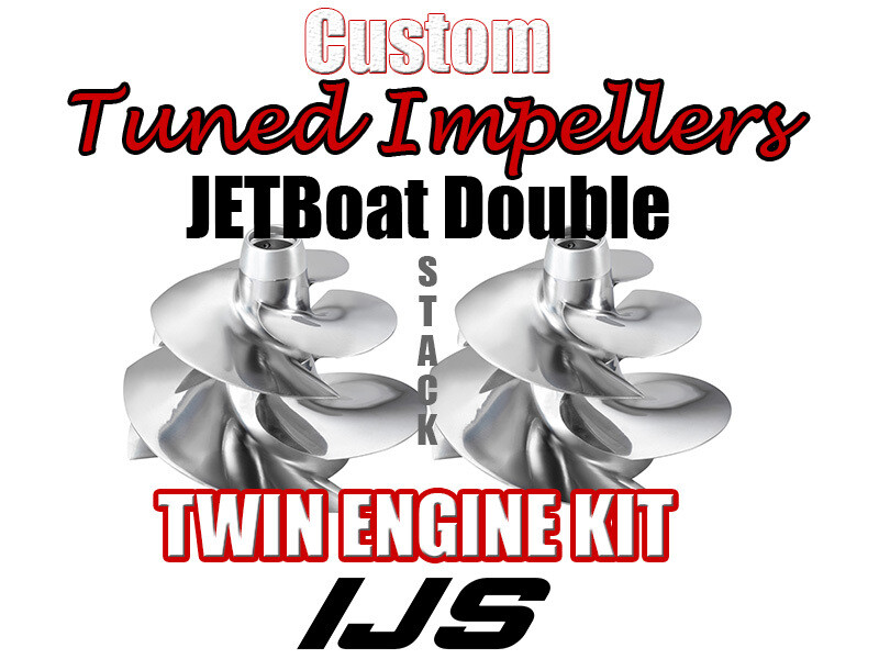 Twin Doublestack Performance 2 X Impellers Kit 2005 Sea Doo Speedster 200 SC Twin eng boat