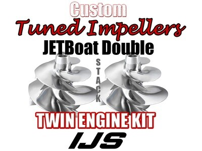 Twin 2x Doublestack Impellers Kit  Scarab 300HP x 2 Twin Engine Jet Boat