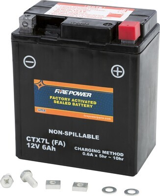 FIRE POWER BATTERY CTX7L SEALED FACTORY ACTIVATED