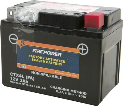 FIRE POWER BATTERY CTX4L/CT4L SEALED FACTORY ACTIVATED
