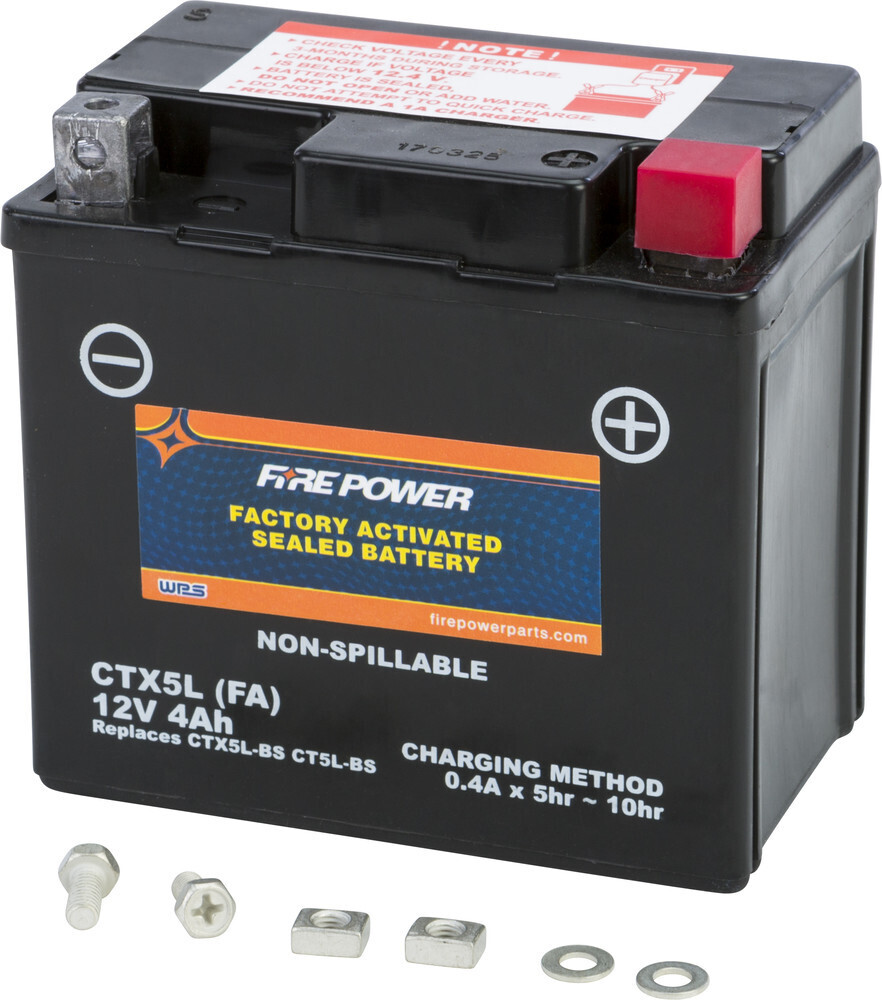 FIRE POWER BATTERY CTX5L SEALED FACTORY ACTIVATED