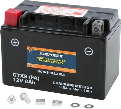 FIRE POWER BATTERY CTX9 SEALED FACTORY ACTIVATED