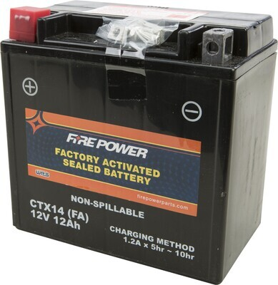FIRE POWER BATTERY CTX14 SEALED FACTORY ACTIVATED