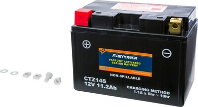 FIRE POWER BATTERY CTZ14S SEALED FACTORY ACTIVATED