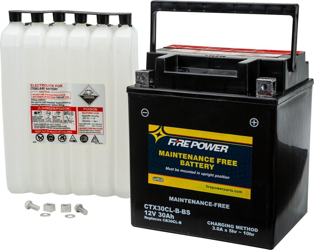 FIRE POWER BATTERY CTX30CL-B-BS MAINTENANCE FREE
