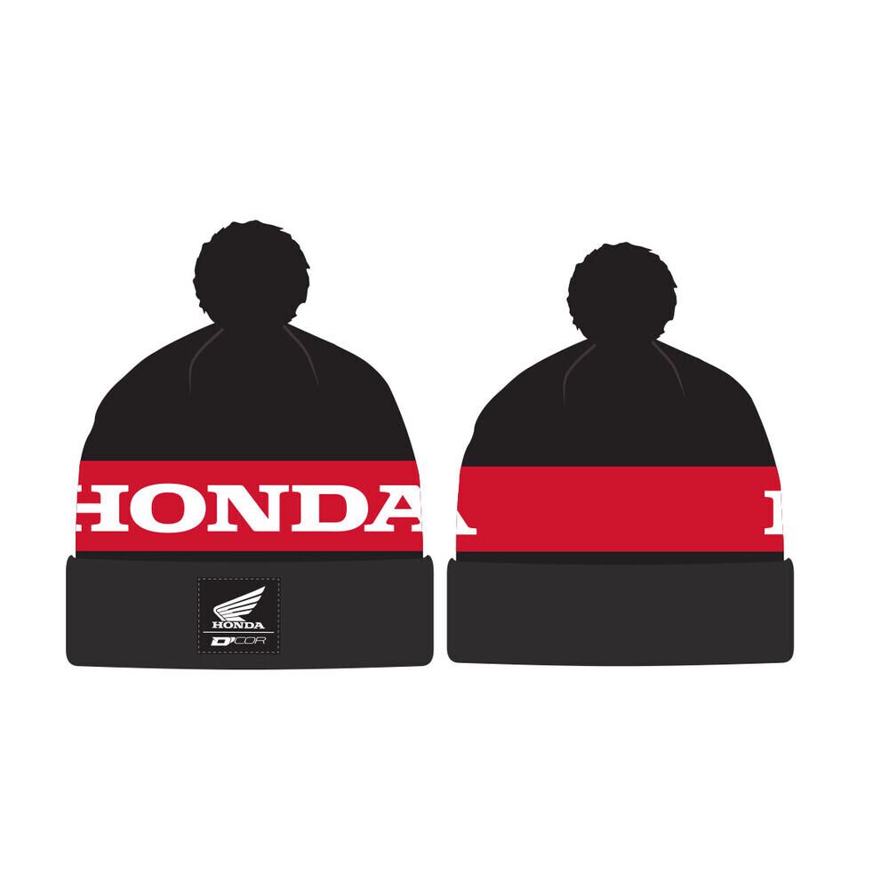 D'COR HONDA BEANIE STRIPE BLACK/RED