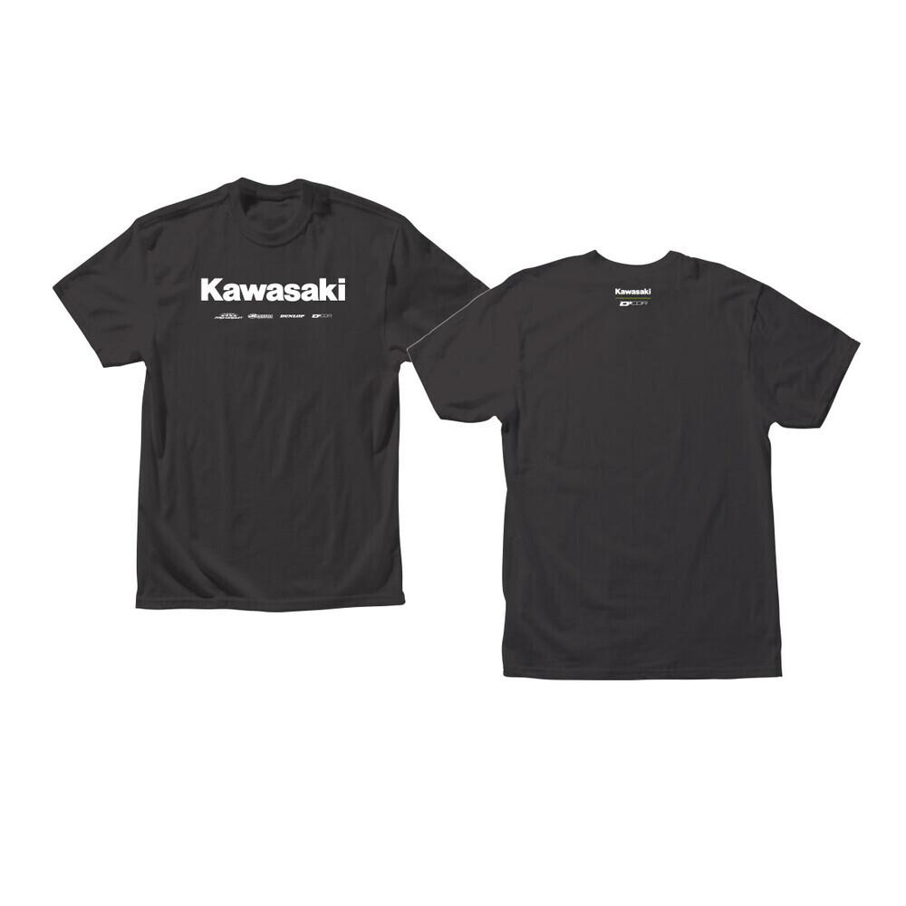 D'COR KAWASAKI RACING TSHIRT BLACK