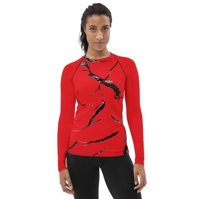 Race Team Red Women's Rash Guard