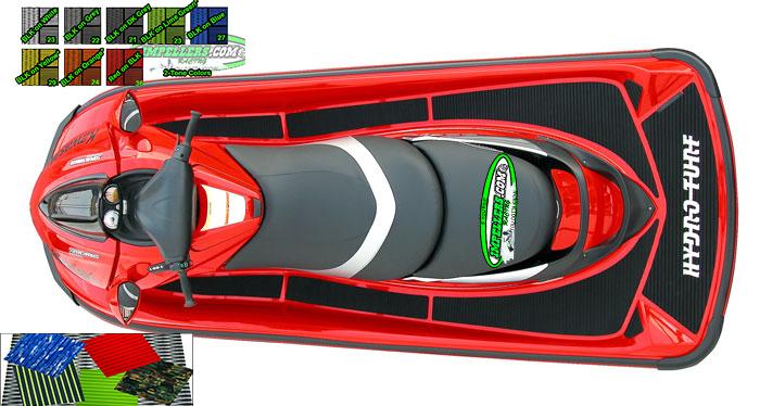 Hydro Turf Mats Jet Ski Mat Ultra 250X/LX 260LX Ultra 300/310 13-18 BLACK