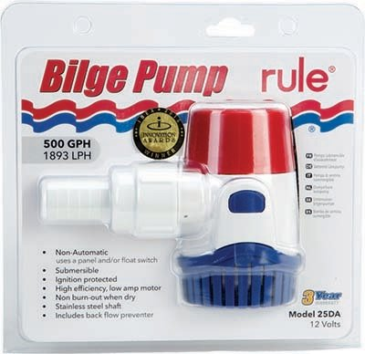 Bilge Pump RULE NON-AUTOMATIC 500 G PH