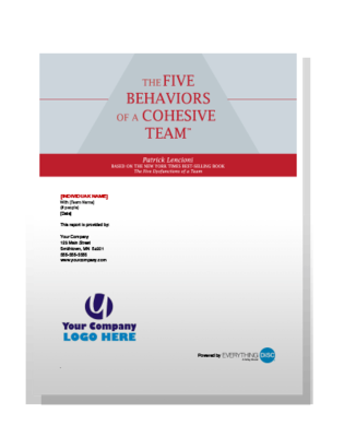 Five Behaviors of A Cohesive Team powered by Everything DiSC - English