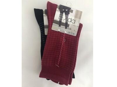 Damen Socken Glitzerstreifen Doppelpack