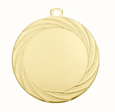 """מדליה קוטר 7 ס""""מ ממתכת צבע זהב/כסף/ארד"""