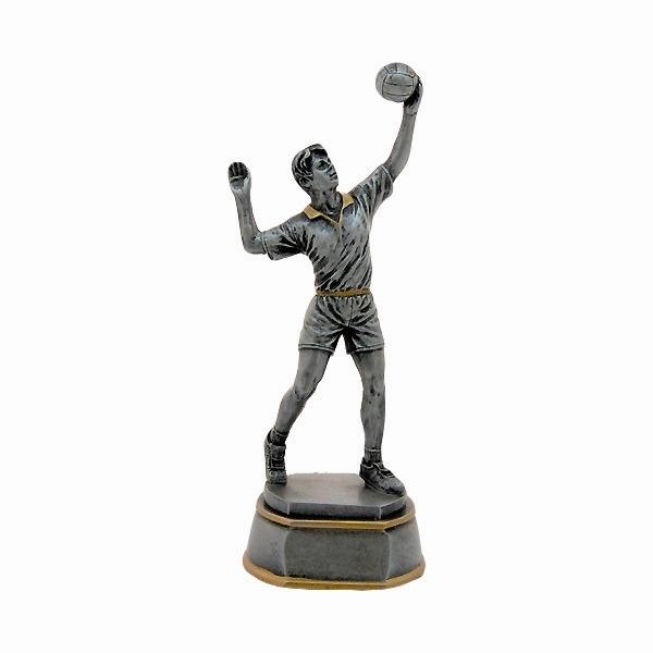 """פסלון רזין כדורעף גבר ג. 16 ס""""מ כולל הקדשה"""