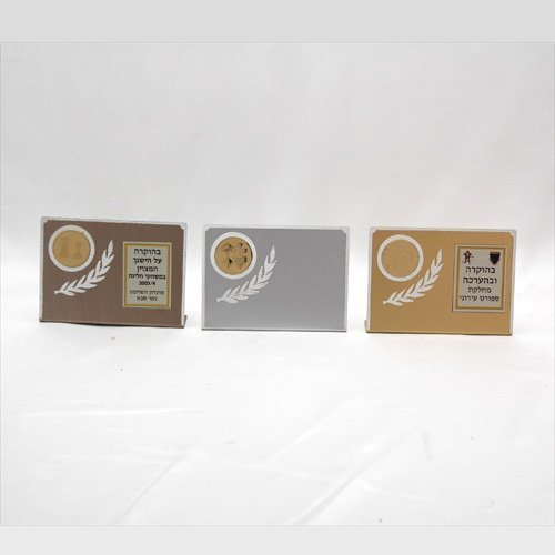 """דגם 5011  מגן אלומיניום  זהב/כסף/ארד 7*10 ס""""מ גובה כולל הקדשה"""