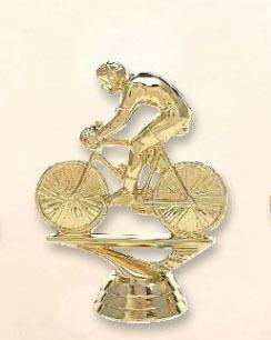 פסלון אופני מירוץ על בסיס שיש ג.13  צבע זהב כולל הקדשה