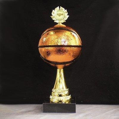 """גביע מתכת כדורסל קוטר 14 ס""""מ כולל הקדשה עם מקום לסמל/לוגו גובה 35 ס""""מ"""