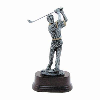 """פסלון רזין גולף גבר ג. 18 ס""""מ  כולל הקדשה"""