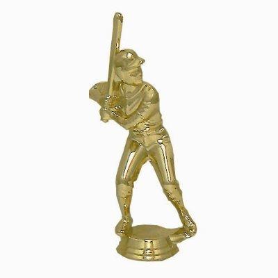 """פסלון בייסבול גבר זהב על בסיס שיש גובה 18 ס""""מ כולל הקדשה"""