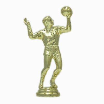 """פסלון כדורעף גבר על בסיס שיש גובה 13 ס""""מ צבע זהב כולל הקדשה"""