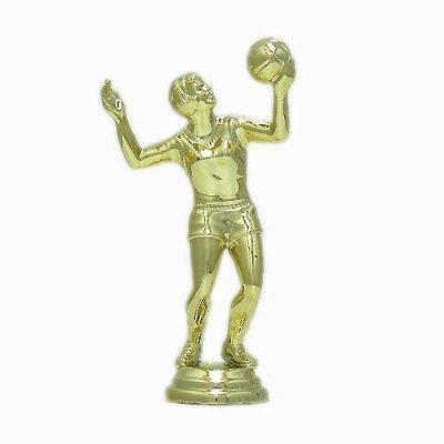 """פסלון כדורעף נשים על בסיס שיש גובה 13 ס""""מ צבע זהב כולל הקדשה"""