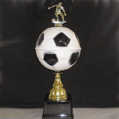 """מגן כדורגל ממתכת גובה 50 ס""""מ כולל הקדשה"""