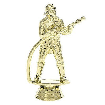 פסלון כבאי  אש על בסיס שיש ג. 16 ס