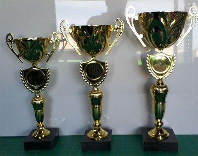 """דגם 2840 גביע מתכת זהב ידיות עם מקום לסמל ענף/לוגו כולל הקדשה גובה 35/39/43 ס""""מ מחיר החל מ"""