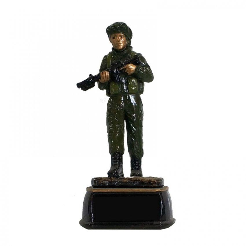 """מתנה לגיוס / שחרור - פסלון חייל עומד גובה 15 ס""""מ"""