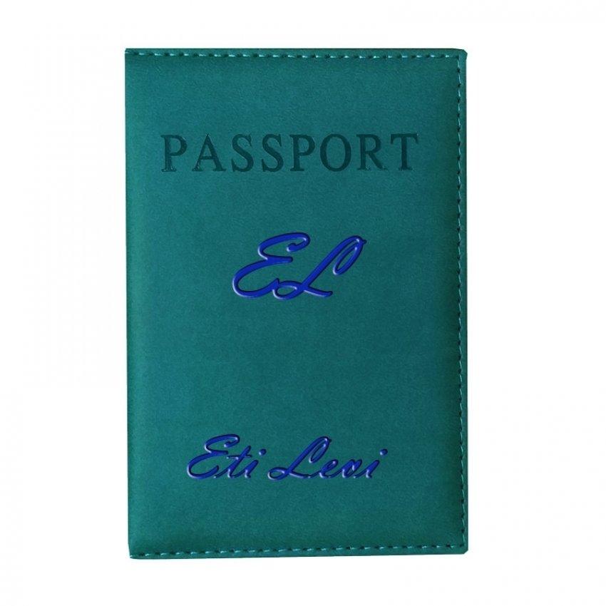 נרתיק לדרכון עם שם - ירוק