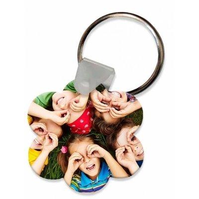 הדפסה על מחזיק מפתחות - פרח