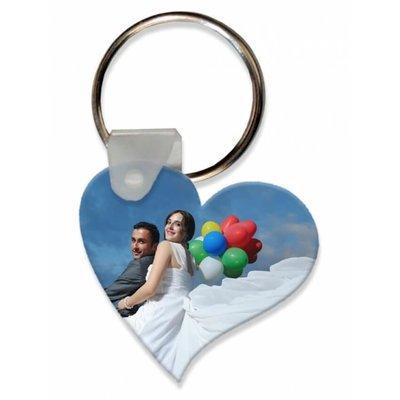 הדפסה על מחזיק מפתחות - לב