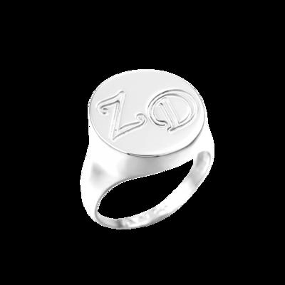 טבעת חותם מוגבהת בחריטה אישית