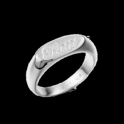 טבעת חותם אישית עם חריטה