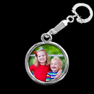 מחזיק מפתחות עם תמונה בציפוי כסף