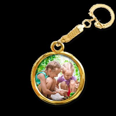הדפסה על מחזיק מפתחות זהב 24 קאראט