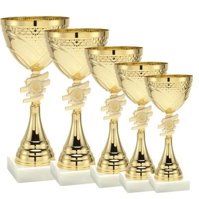 סט 5 גביעי מתכת איכותיים זהב - 101-320