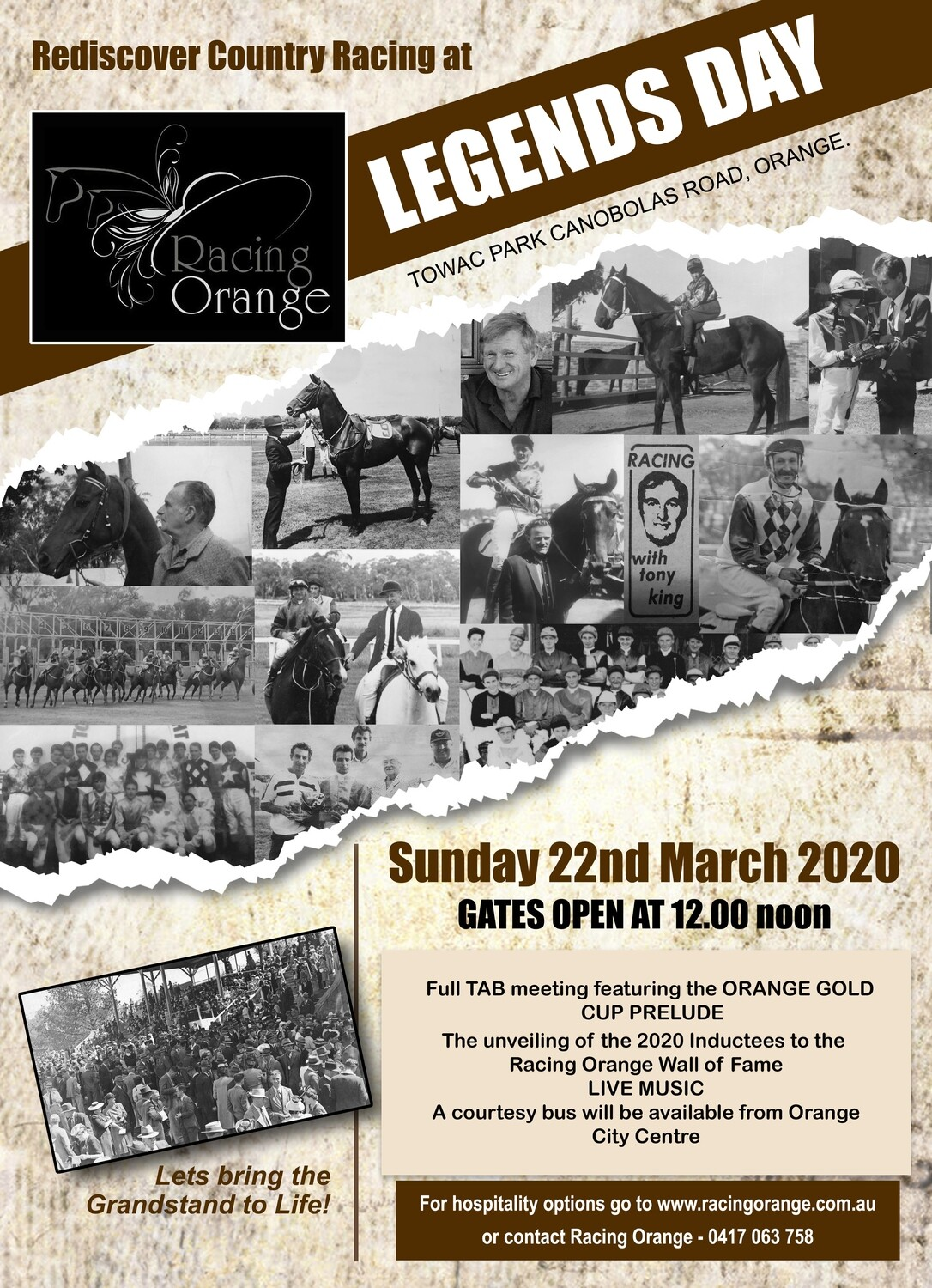 'Legends Day' Grandstand Lawn - Trackside Party 21st March 2021