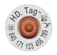 840 HD RFID TAG SET TE, WHITE (w/ numbered button) (per 25 tags)