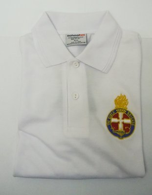 Leaders Polo Shirt w Crest or Logo (white) long sleeve
